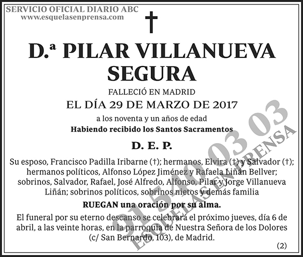 Pilar Villanueva Segura